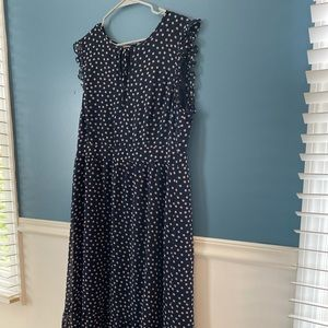 Boden full length dress with lining.